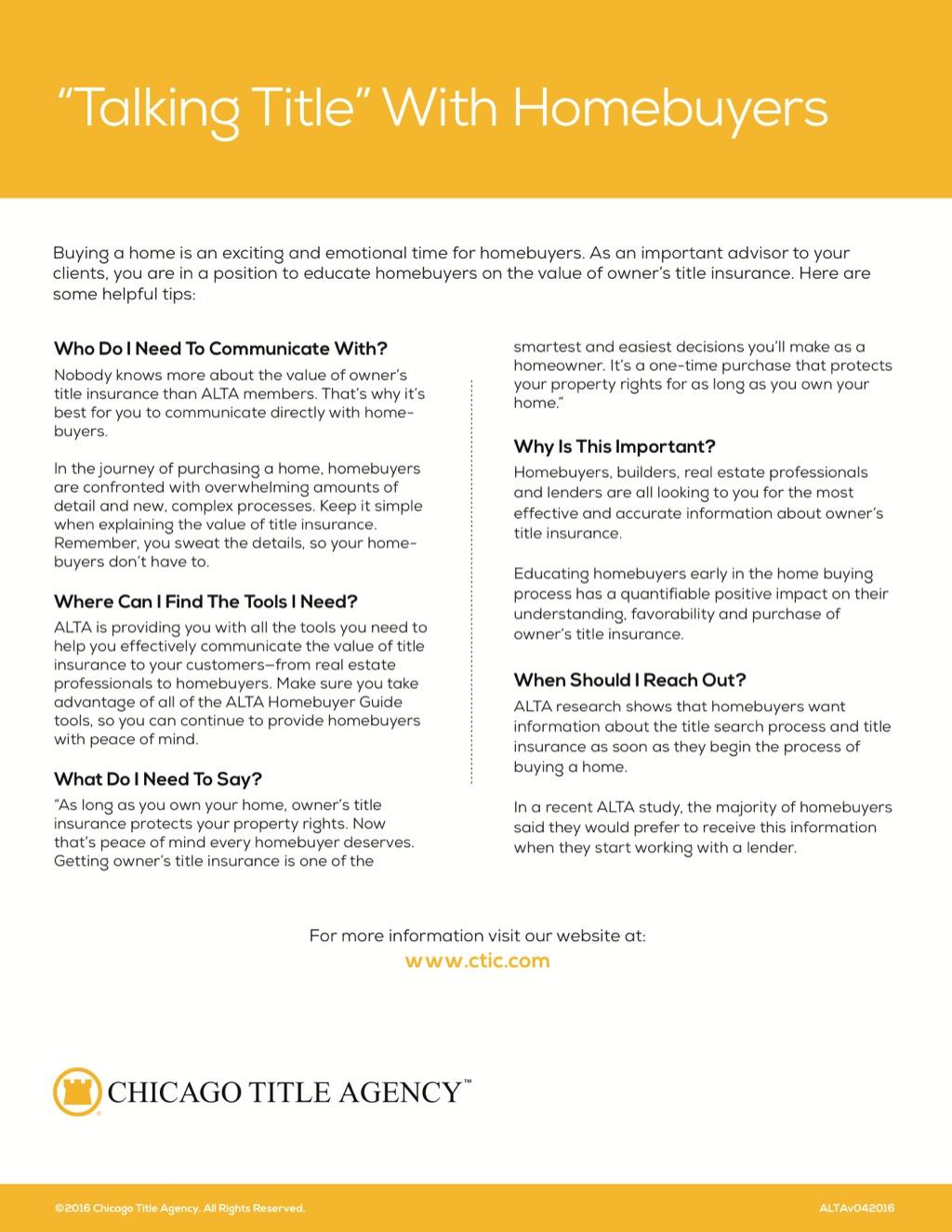 Corefact Talking title Homebuyers - CTA