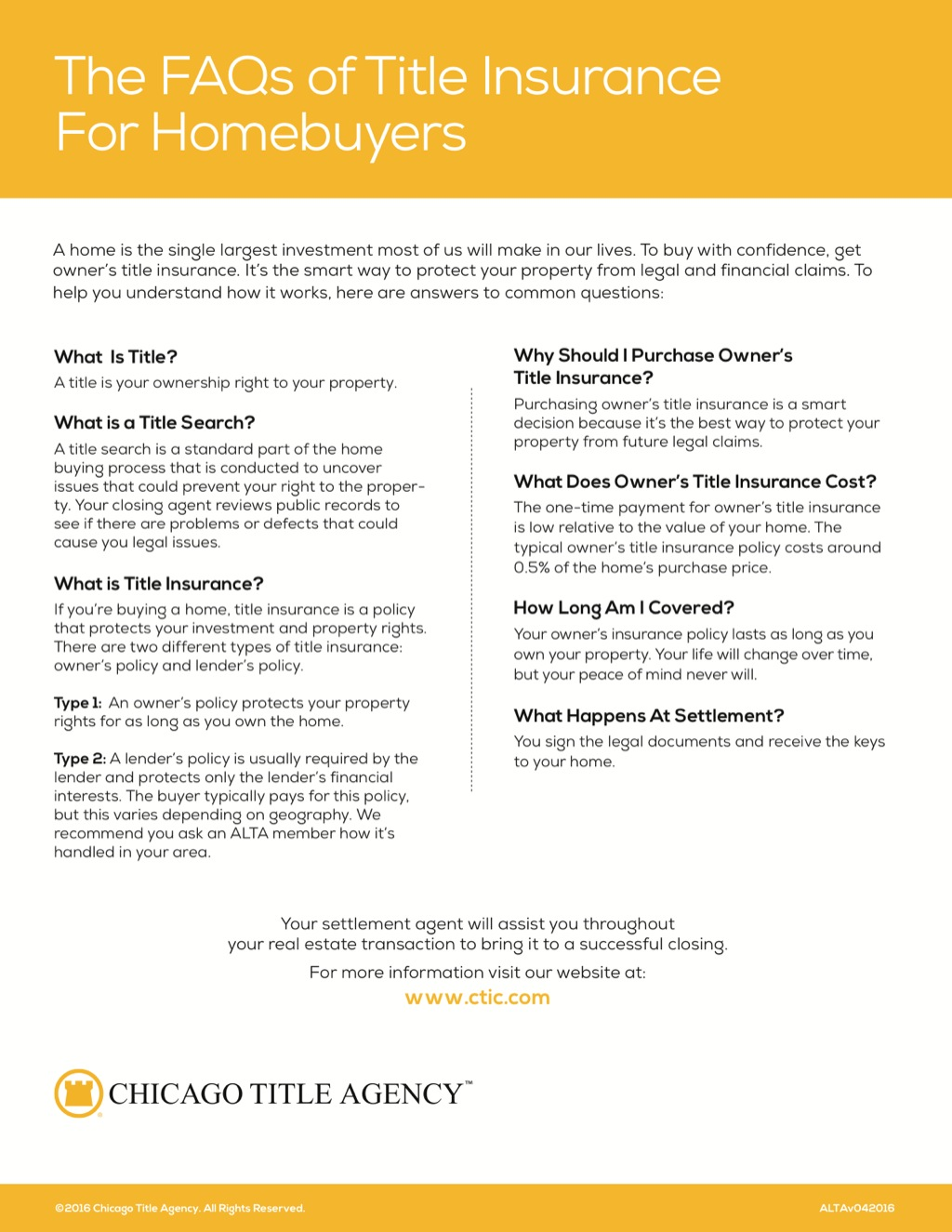 Corefact The FAQs of title insurance - CTA