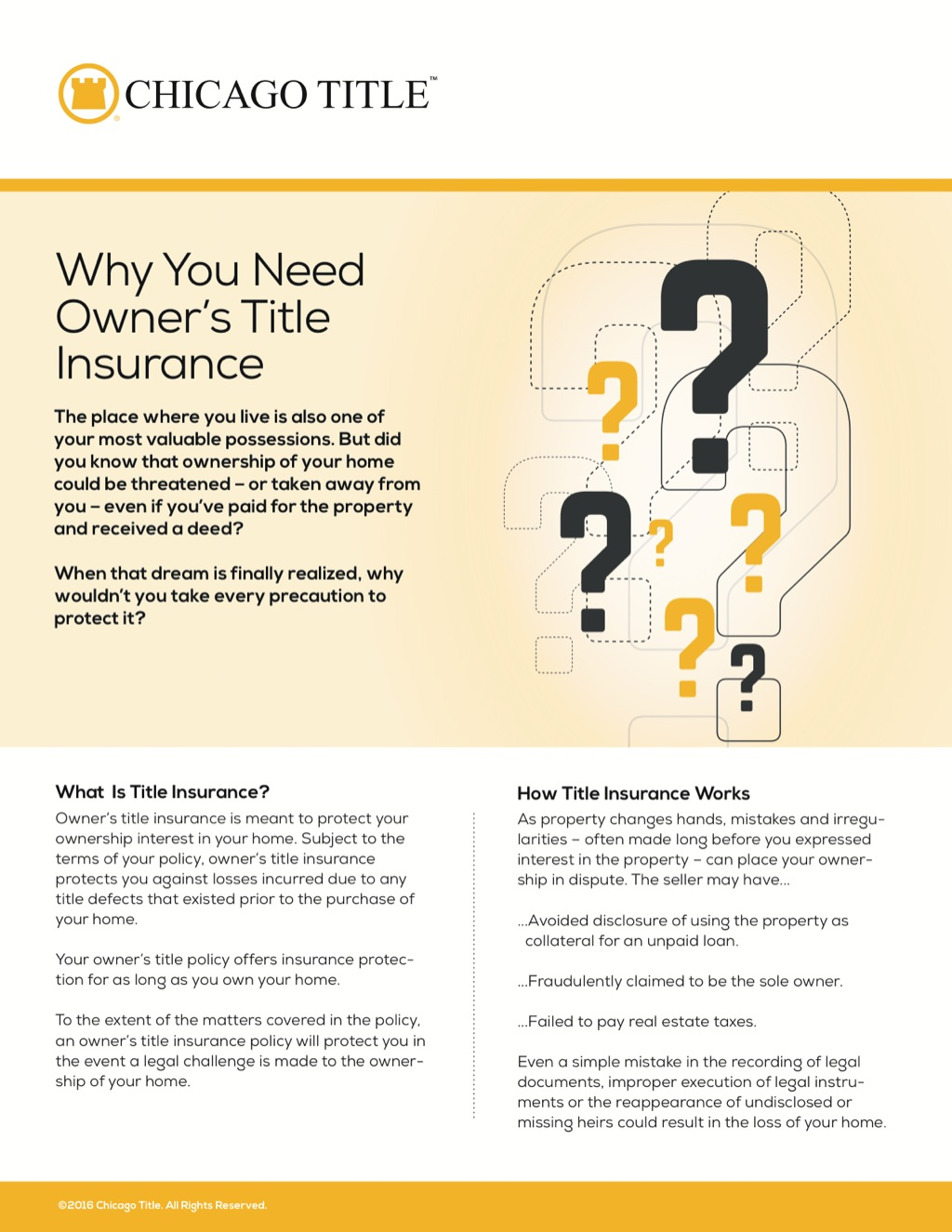 Corefact Why Owner's Title Insurance - CTT