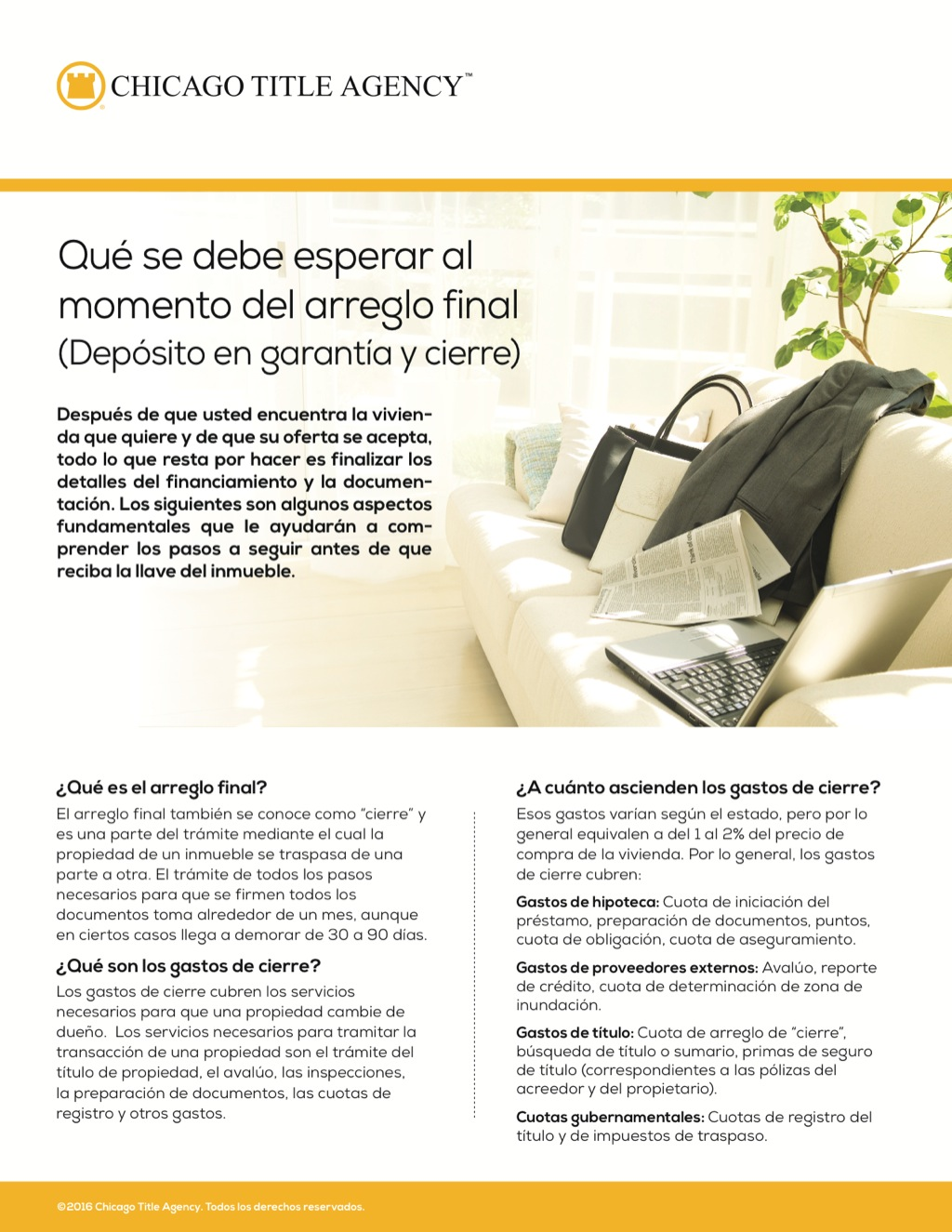 Corefact What to expect at settlement - Spanish - CTA