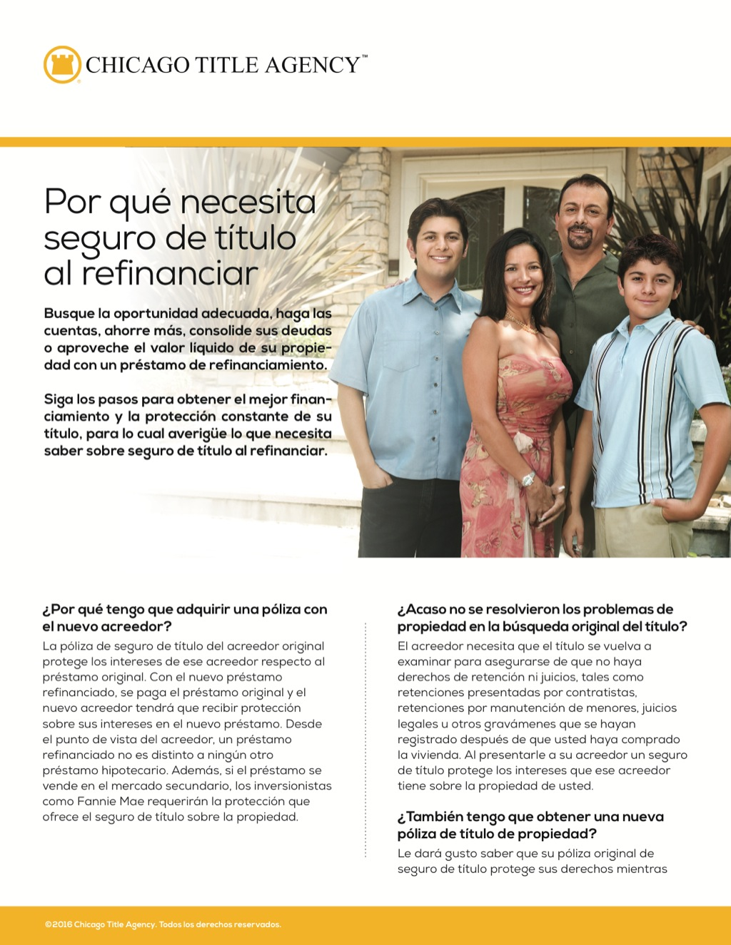 Corefact Why you need title insurance on a refi - Spanish - CTA
