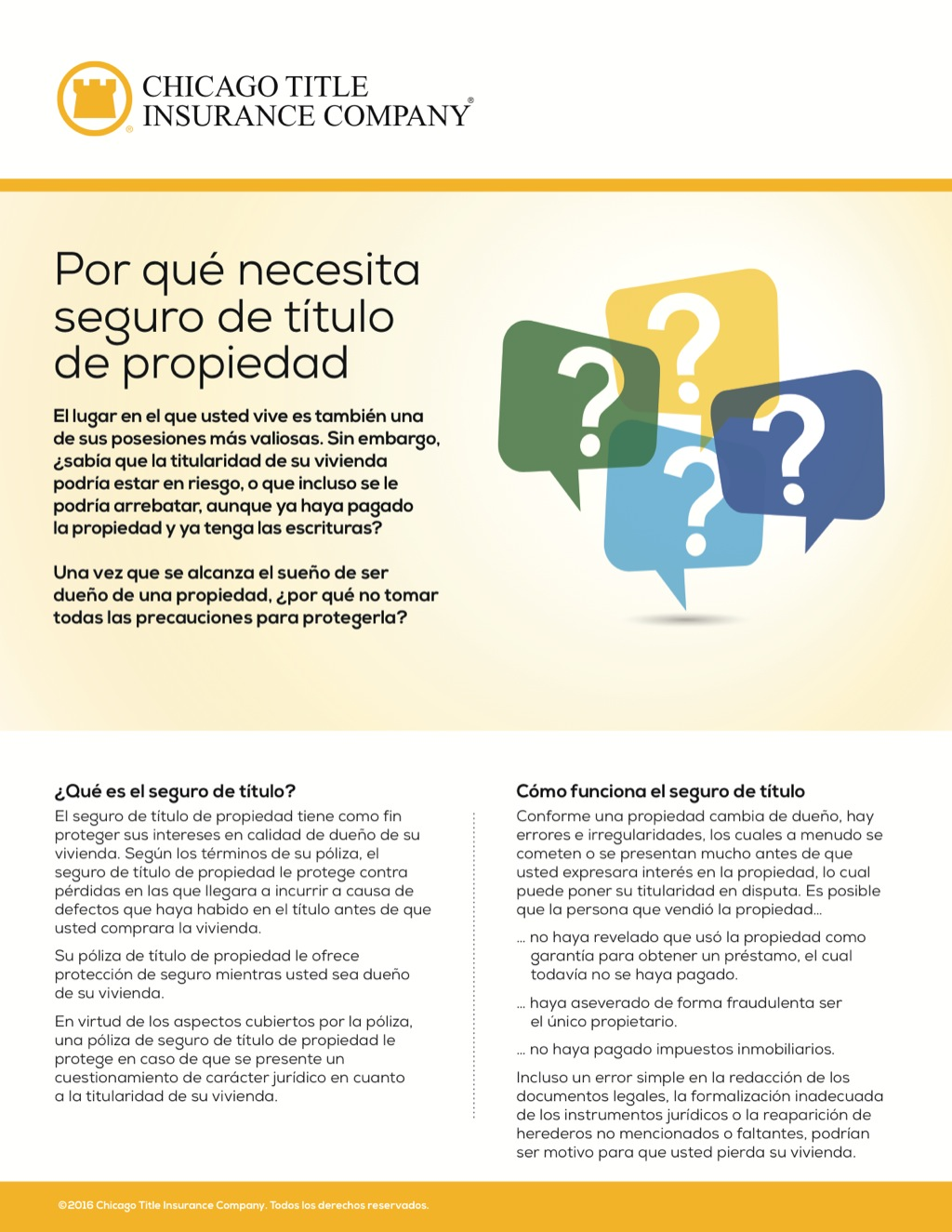 Corefact Why you need owner's title insurance - Spanish - CTIC