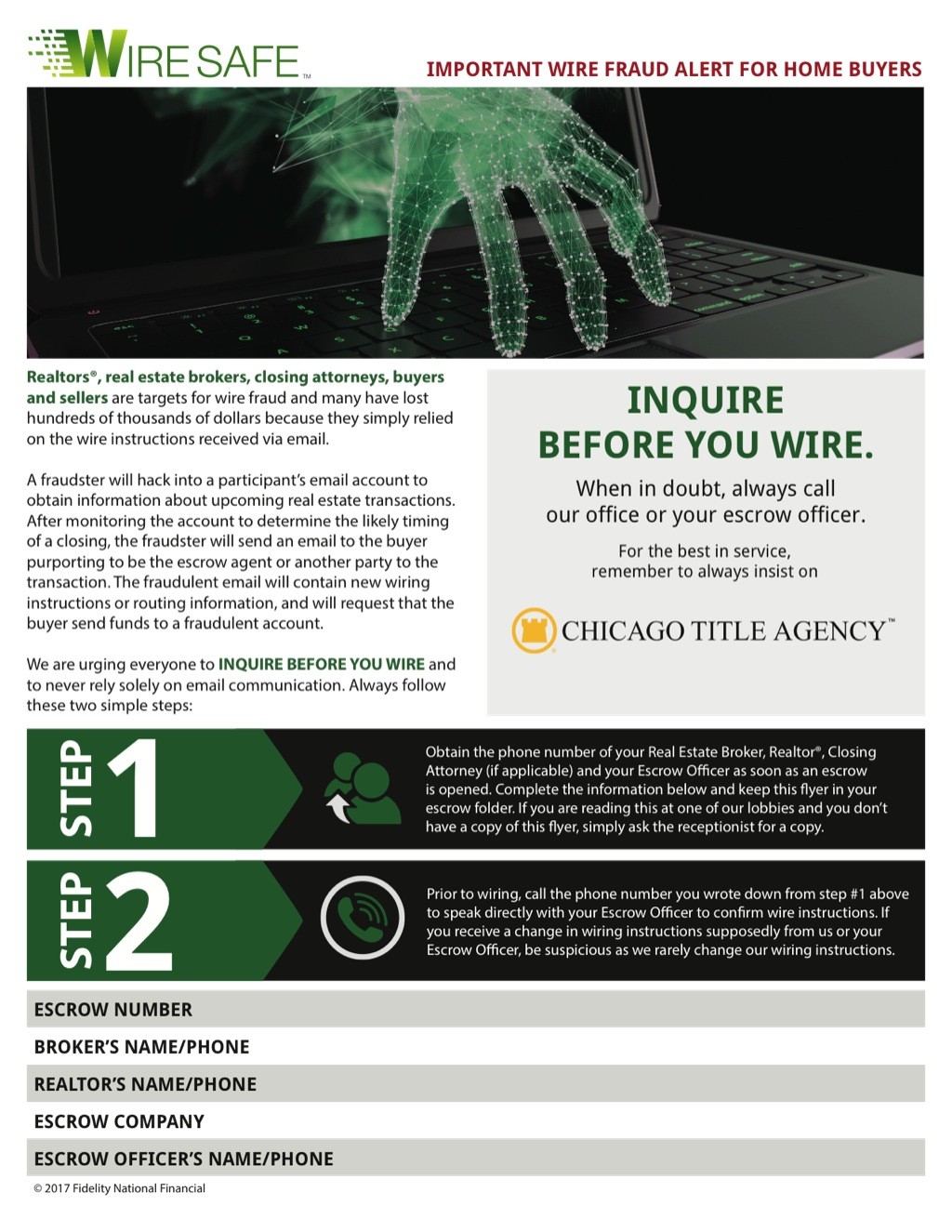 Corefact Wire Safe Buyer Flyer - CTA