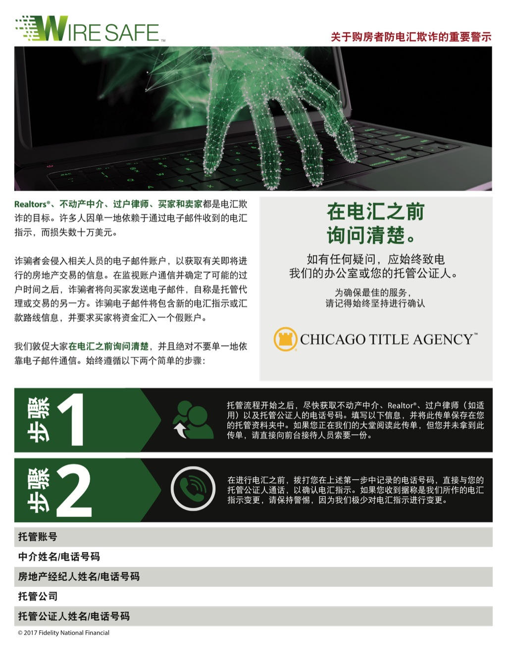 Corefact Wire Safe Buyer Flyer - Chinese - CTA