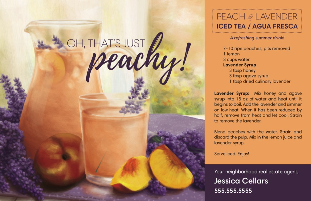 Corefact | Product: Seasonal - Peach & Lavender Iced Tea
