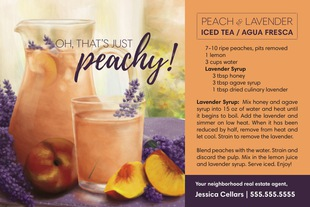 Corefact Seasonal - Peach & Lavender  Iced Tea