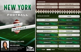 Corefact Magnets - FB NY Green White (Mailer)