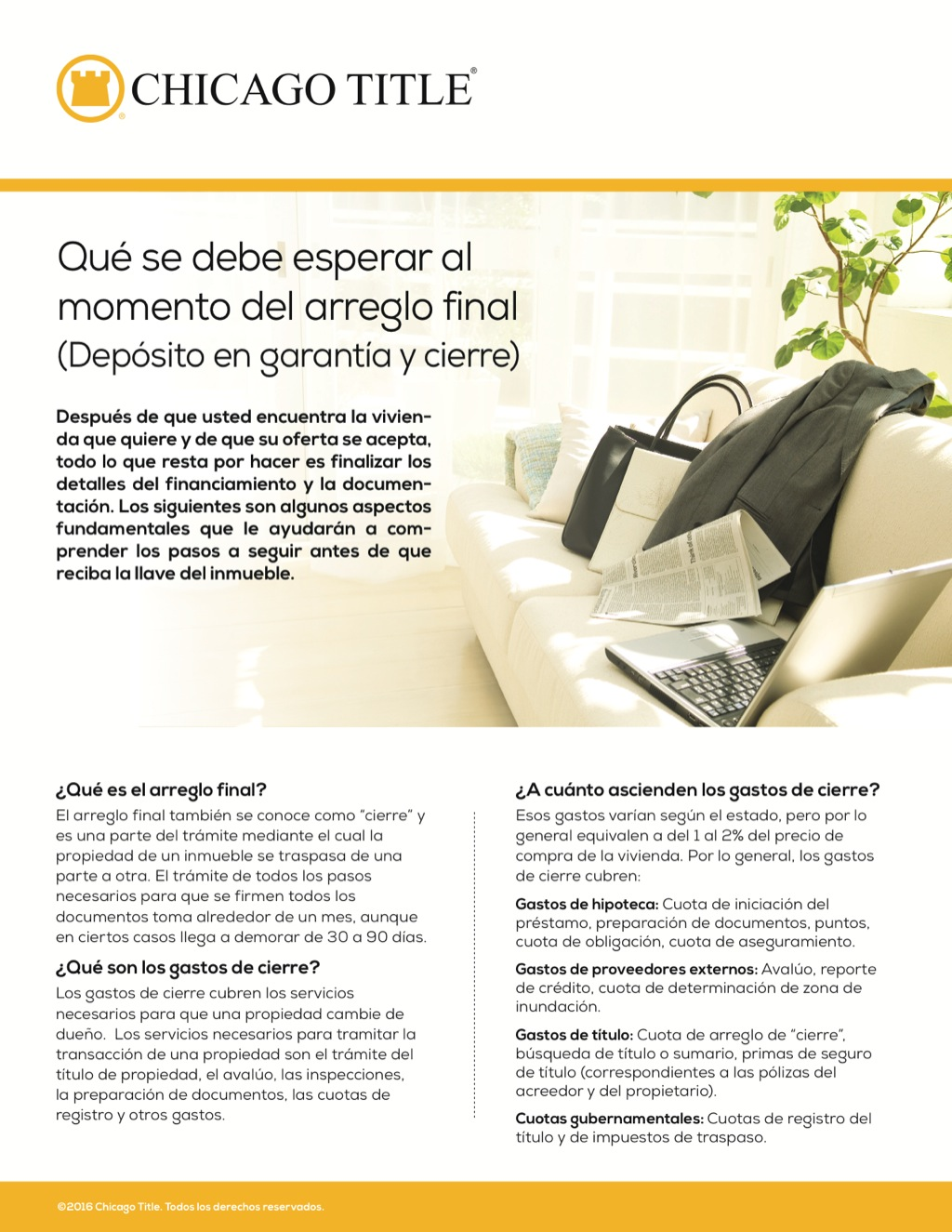 Corefact What to expect at settlement - Spanish - CTT
