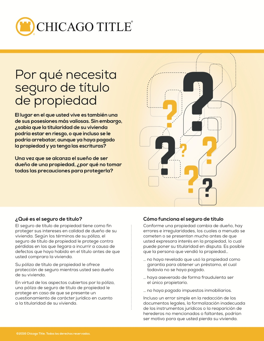Corefact Why you need owner's title insurance - Spanish - CTT