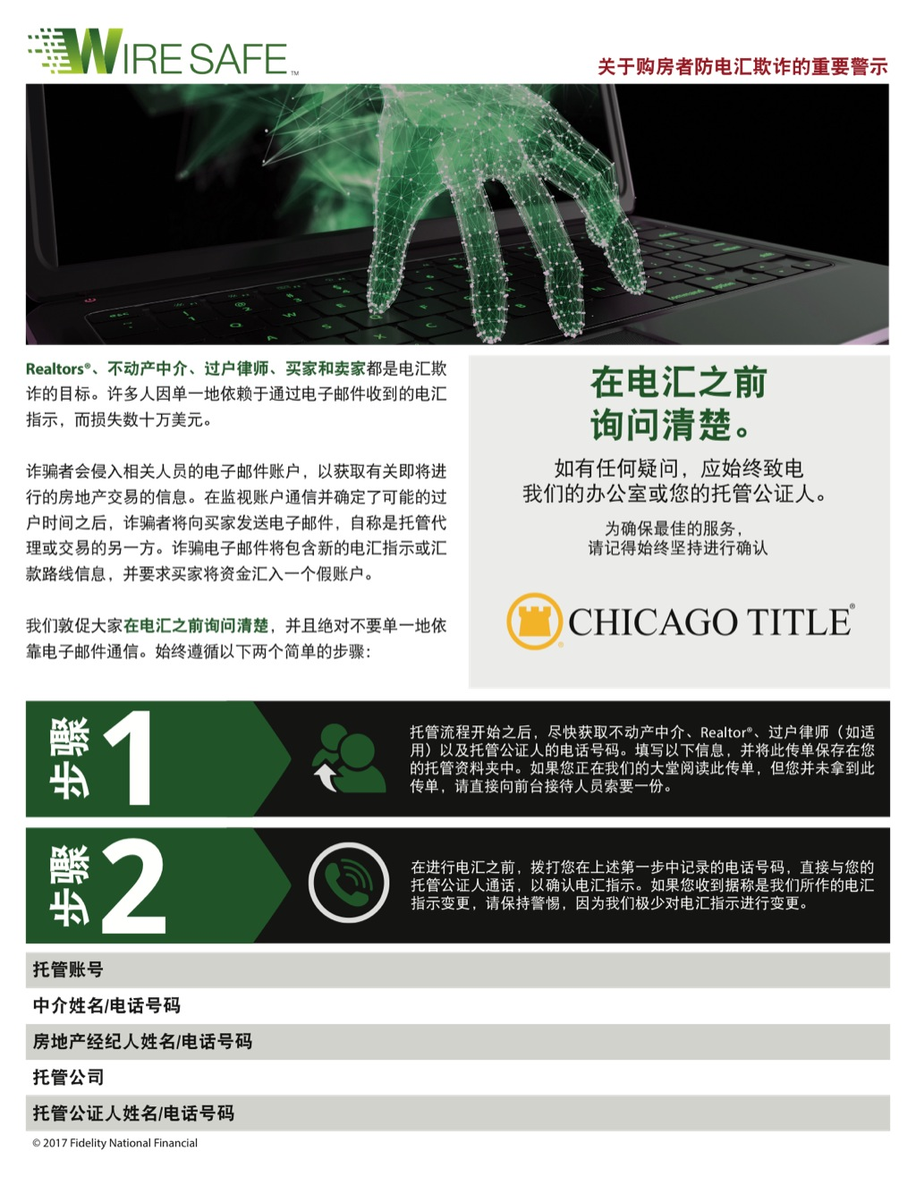 Corefact Wire Safe Buyer Flyer - Chinese - CTT