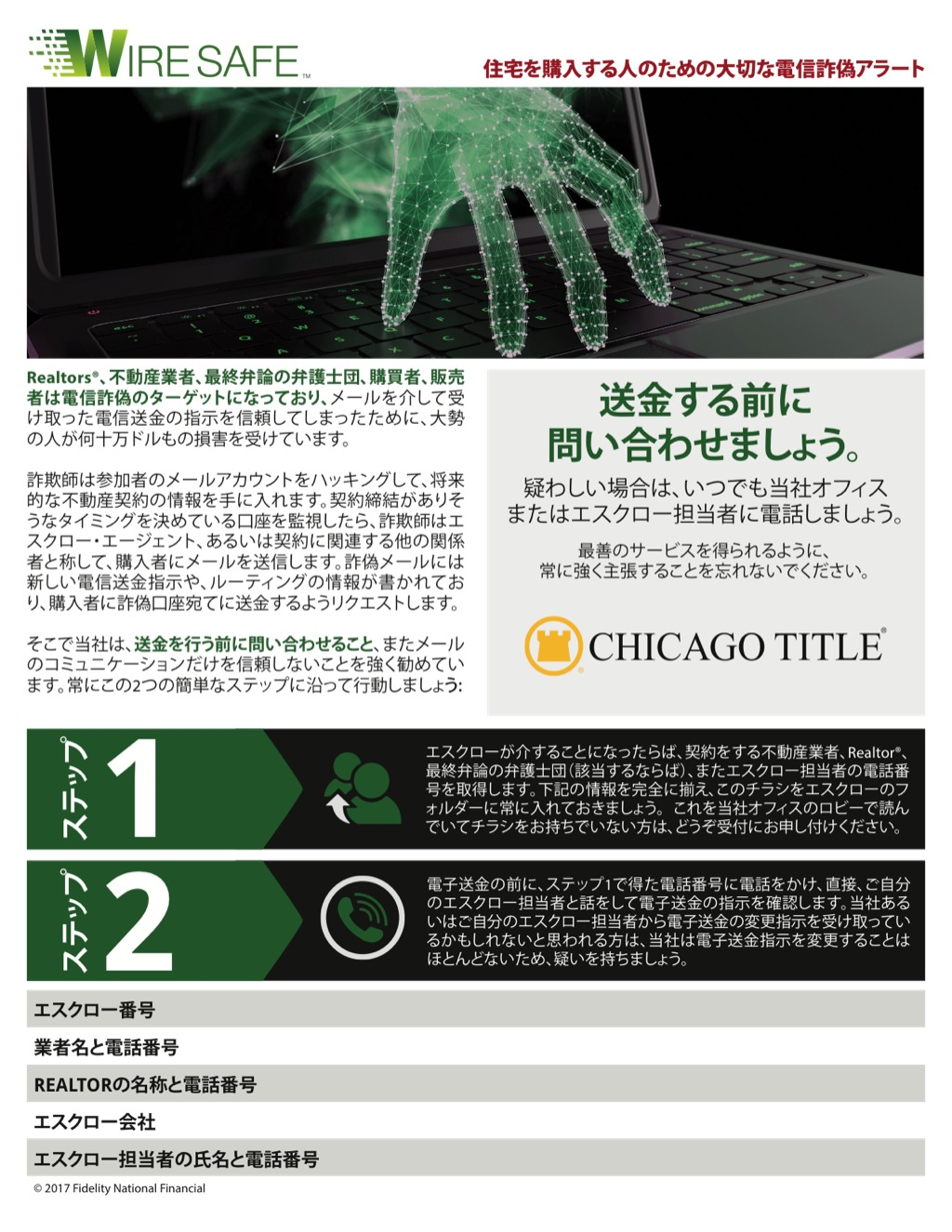Corefact Wire Safe Buyer Flyer - Japanese - CTT