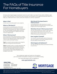 Corefact FAQs of Title Insurance for Homebuyers