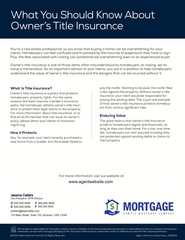 Corefact What You Should Know About Owner's Title Insurance