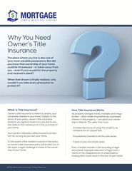 Corefact Why You Need Owner's Title Insurance