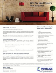 Corefact Why you need title Insurance (red couch flyer)