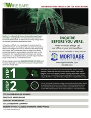 Corefact WireSafe - Inquire Before You Wire Flyer