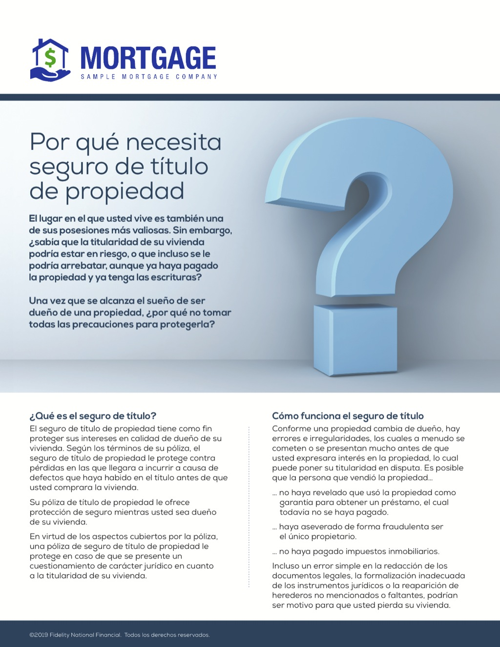 Corefact Why You Need Owner's Title Insurance - Spanish