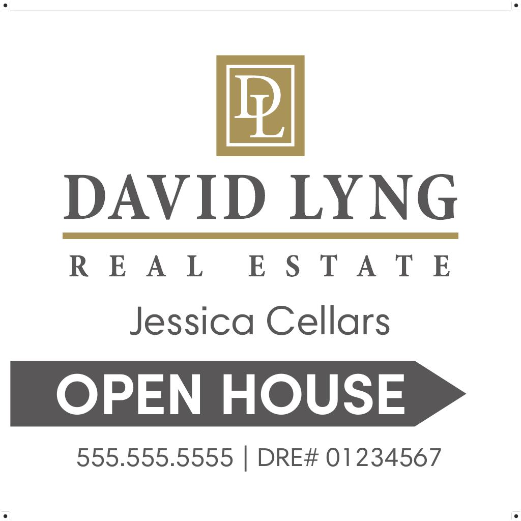 Corefact Double-Sided Open House Sign - White