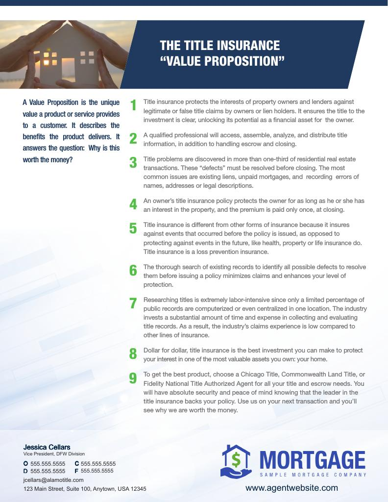 Corefact Title Insurance Value Proposition - AGENT
