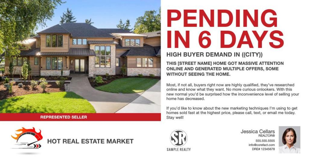 Corefact Hot Market - Just Sold - Pending in...