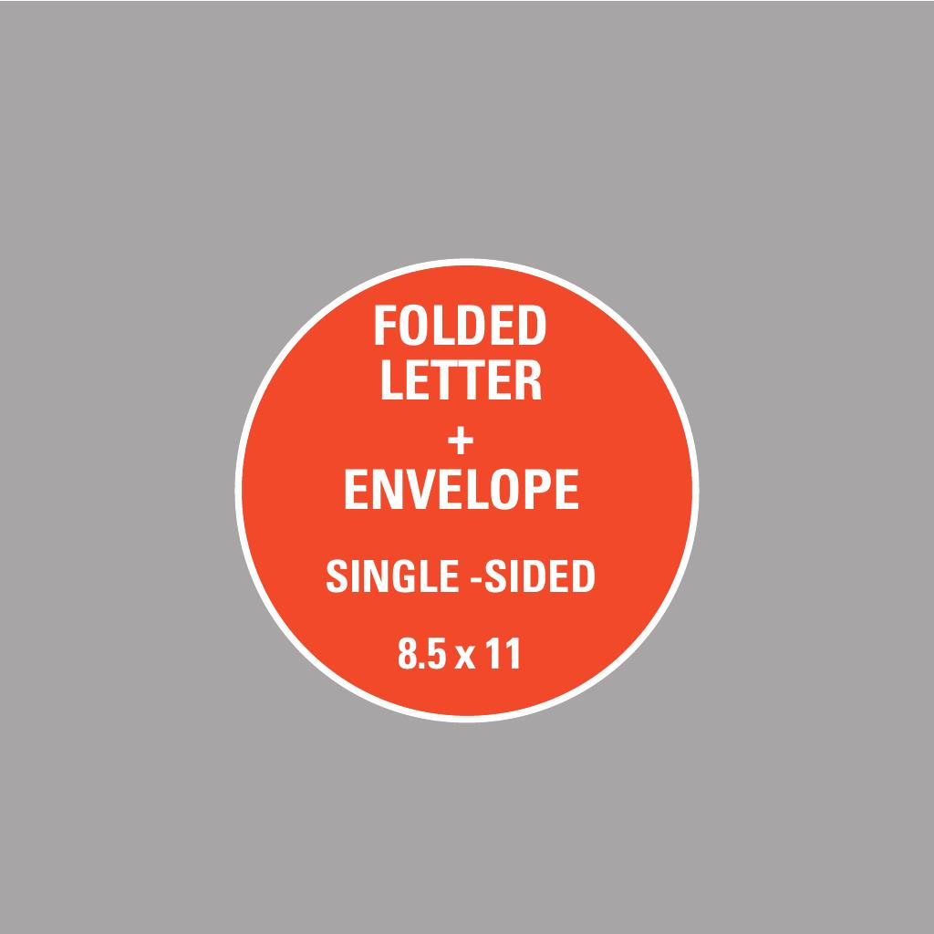 Corefact 8.5 x 11 - Folded Letter + Envelope - Single Sided