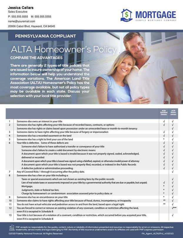 Corefact ALTA Comparison 2-Policy Chart_v1 - PA
