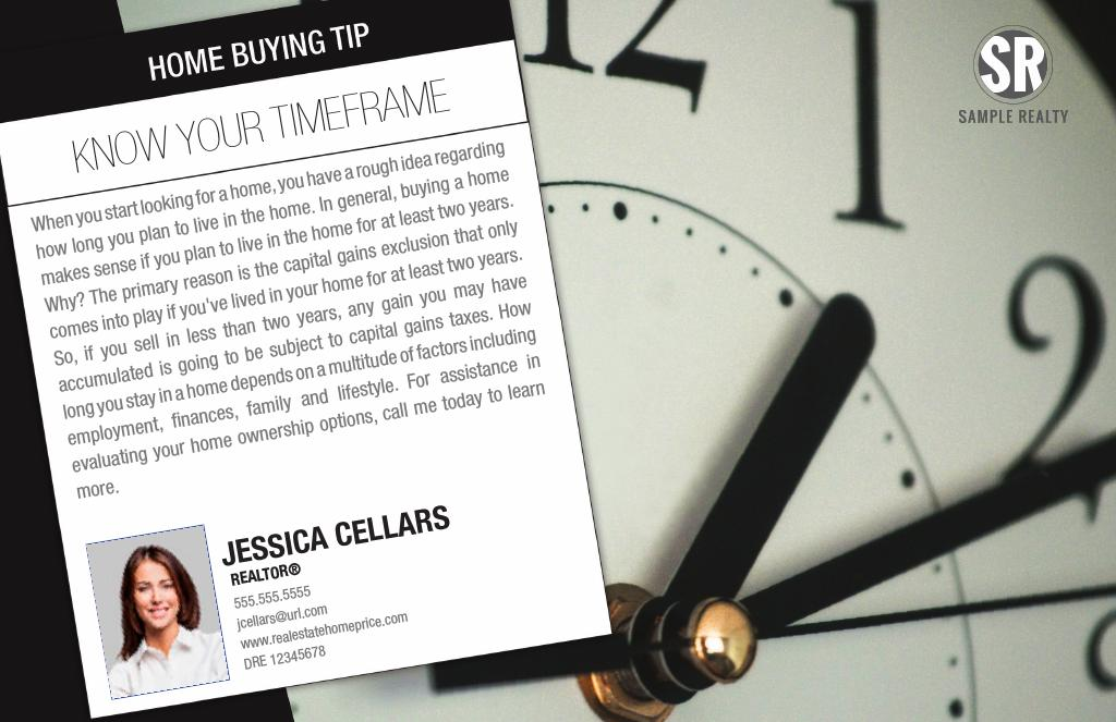 Corefact Series - Buyer Tips - Timeframe