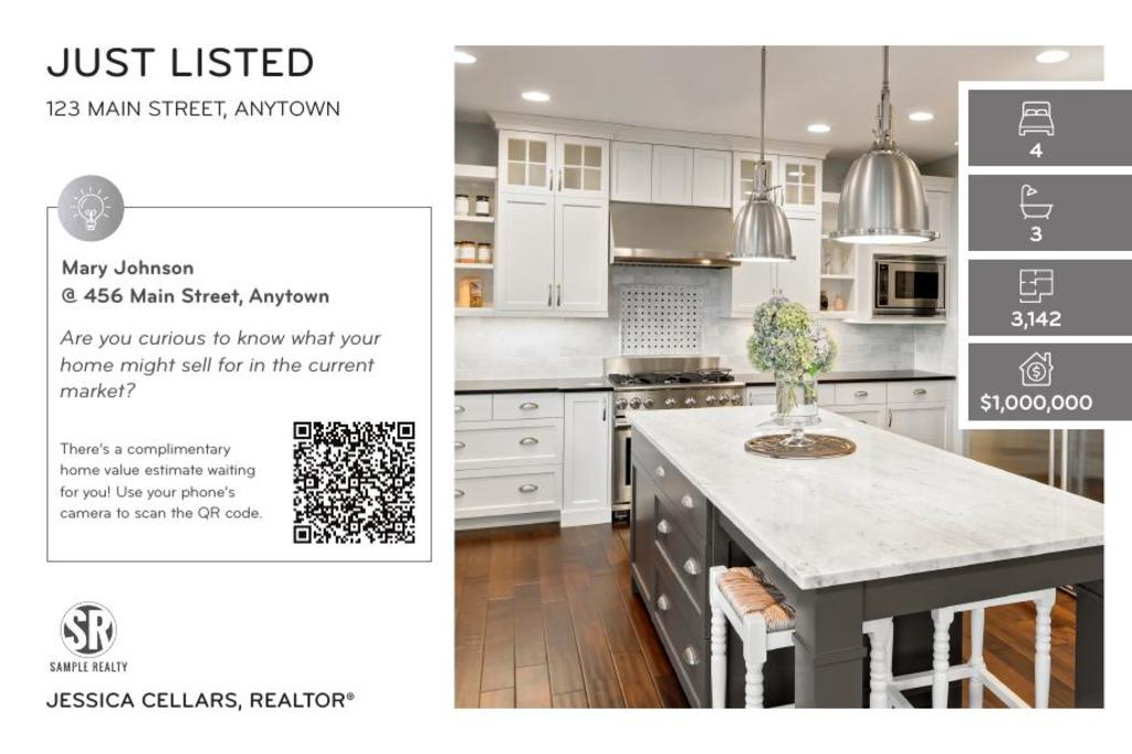 Corefact Just Listed - QR Home Estimate Silver