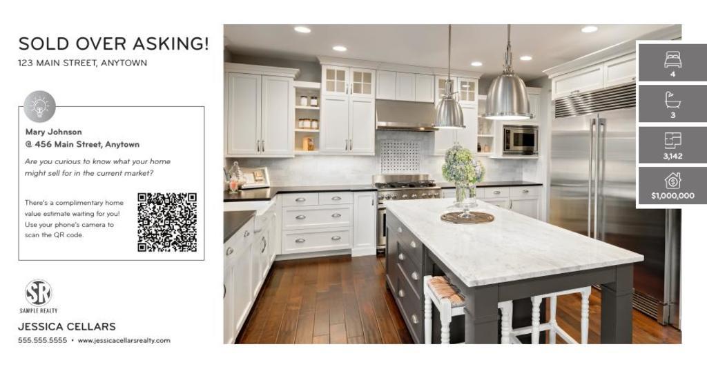 Corefact Just Sold - QR Home Estimate Silver