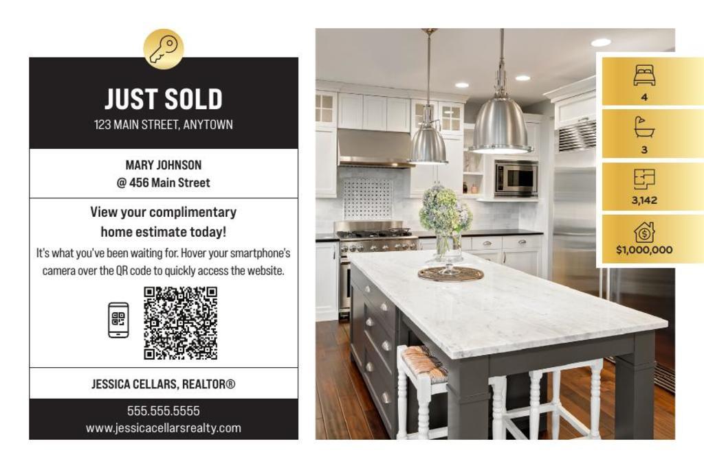 Corefact Just Sold - QR Home Estimate Gold