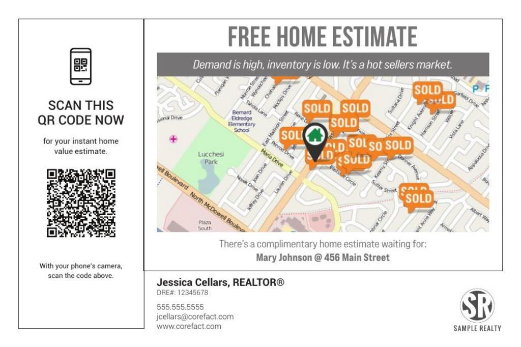 Corefact Home Estimate - QR Code Map