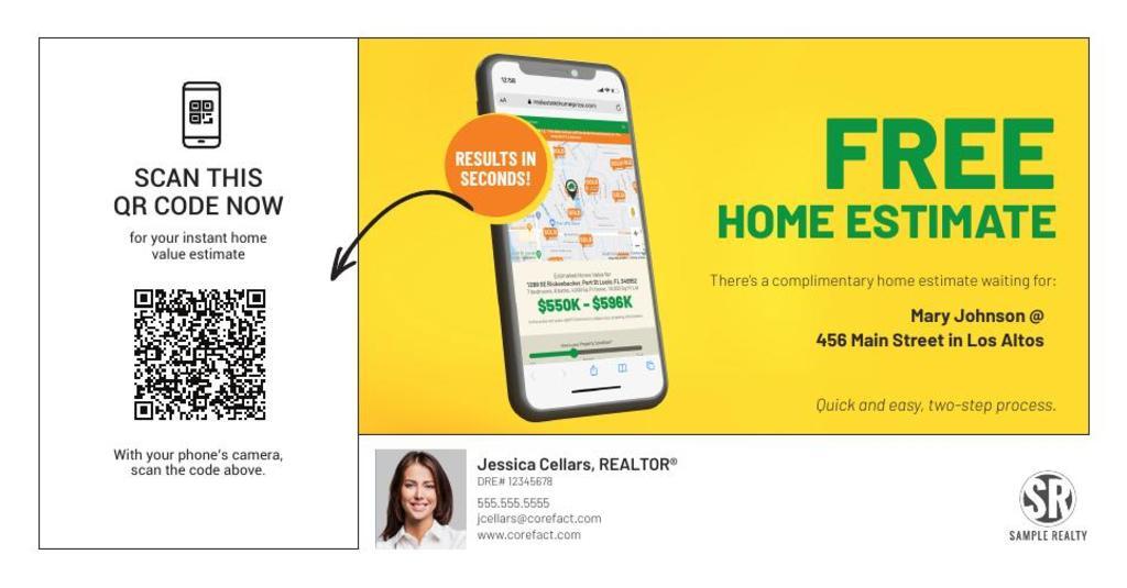 Corefact Home Estimate - QR Code Phone