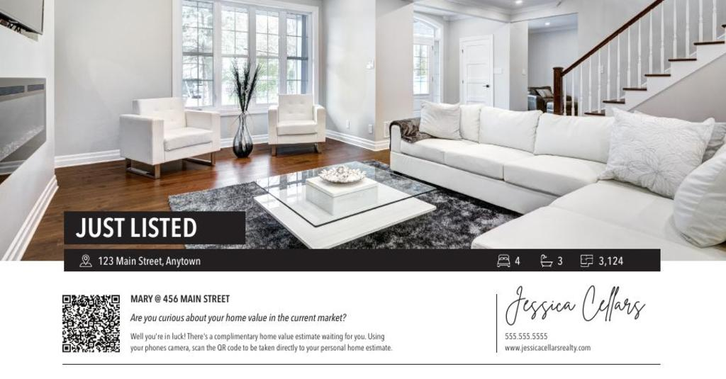 Corefact Just Listed - QR Home Estimate Typography