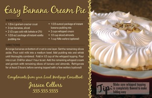 Corefact Recipe - Easy Banana Creme Pie