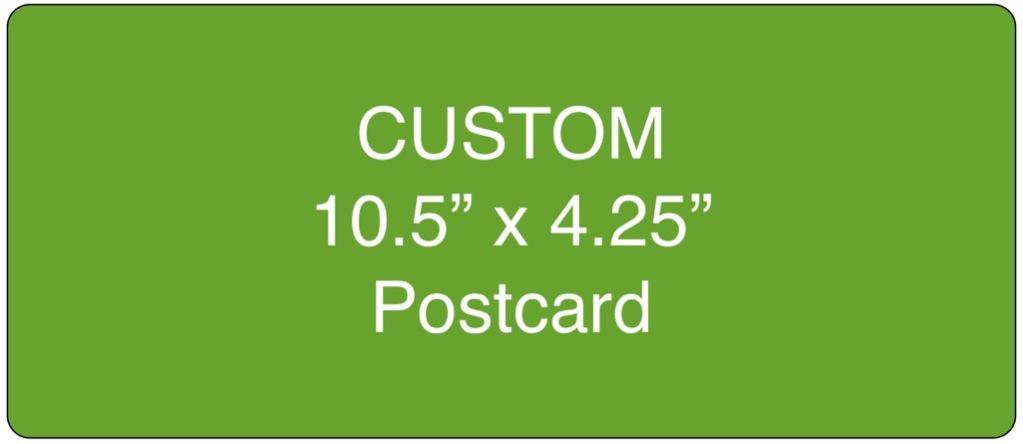 Corefact Custom 10.5 x 4.25 Postcard