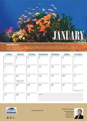 Corefact Wall Calendar - Sea Life 2017