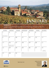 Corefact Wall Calendar - Wine Country 2017
