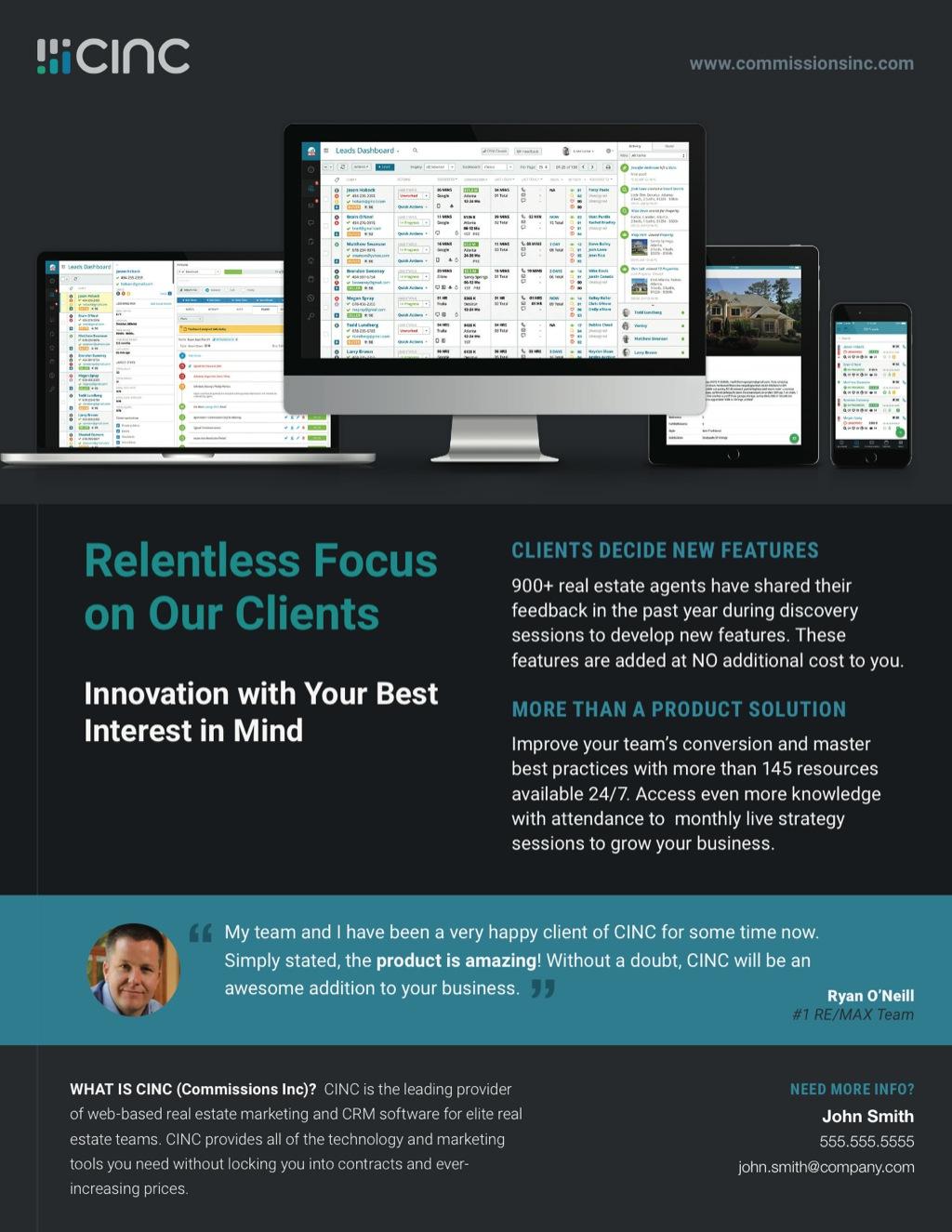 Corefact CINC Relentless Focus Flyer