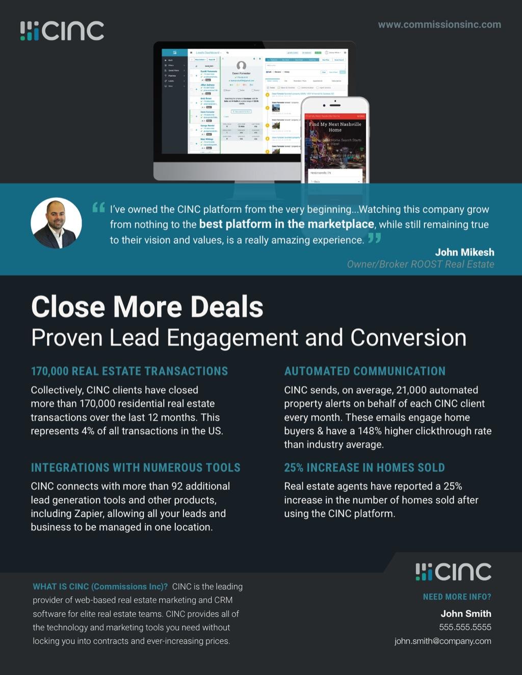 Corefact CINC Close More Deals Flyer