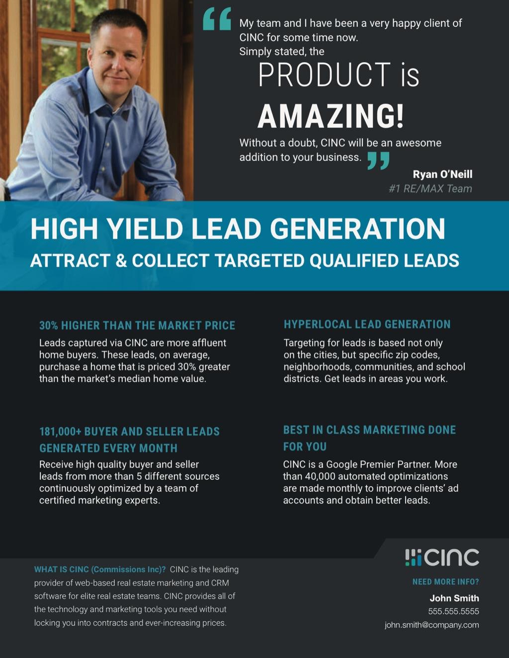 Corefact CINC High Yield Flyer