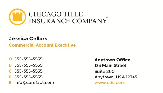 Corefact Chicago Title Insurance Company (Alternate)