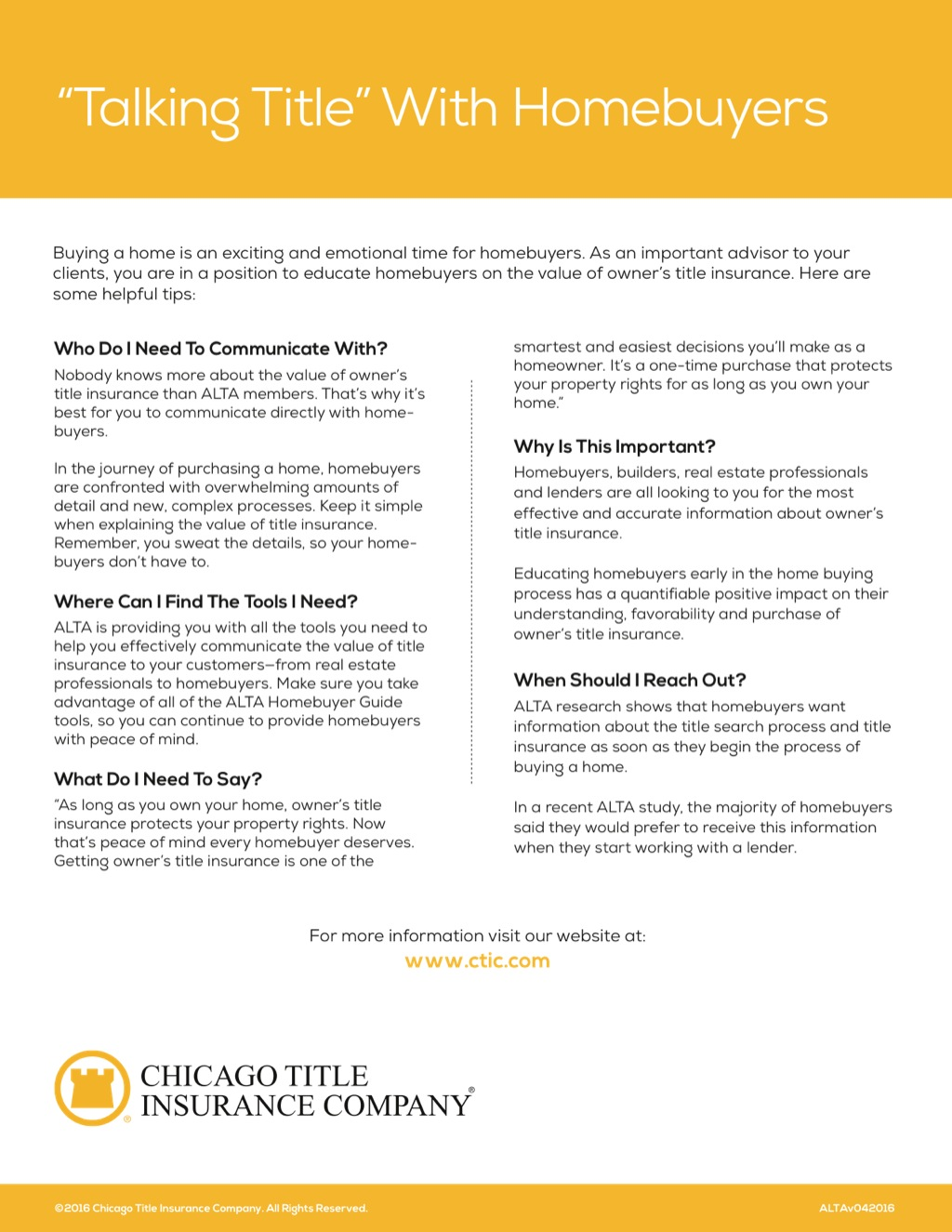 Corefact Talking title Homebuyers - CTIC