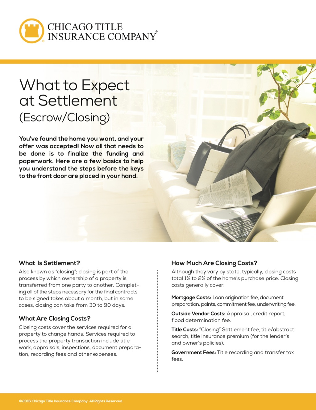 Corefact What to Expect Settlement - CTIC