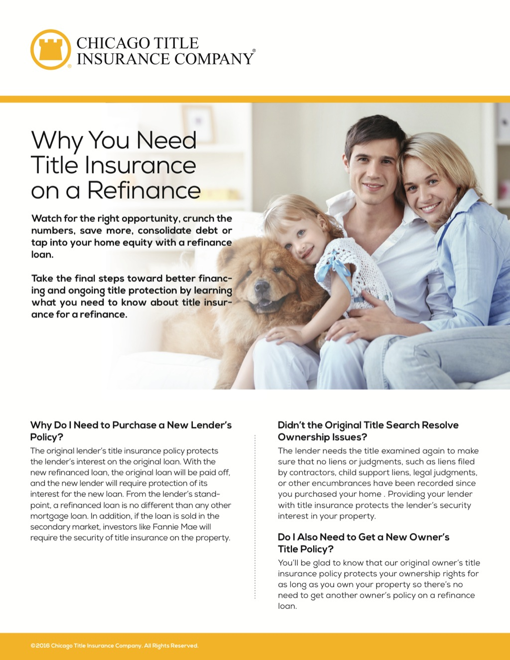 Corefact Why You Need Title Insurance on a Refinance - CTIC