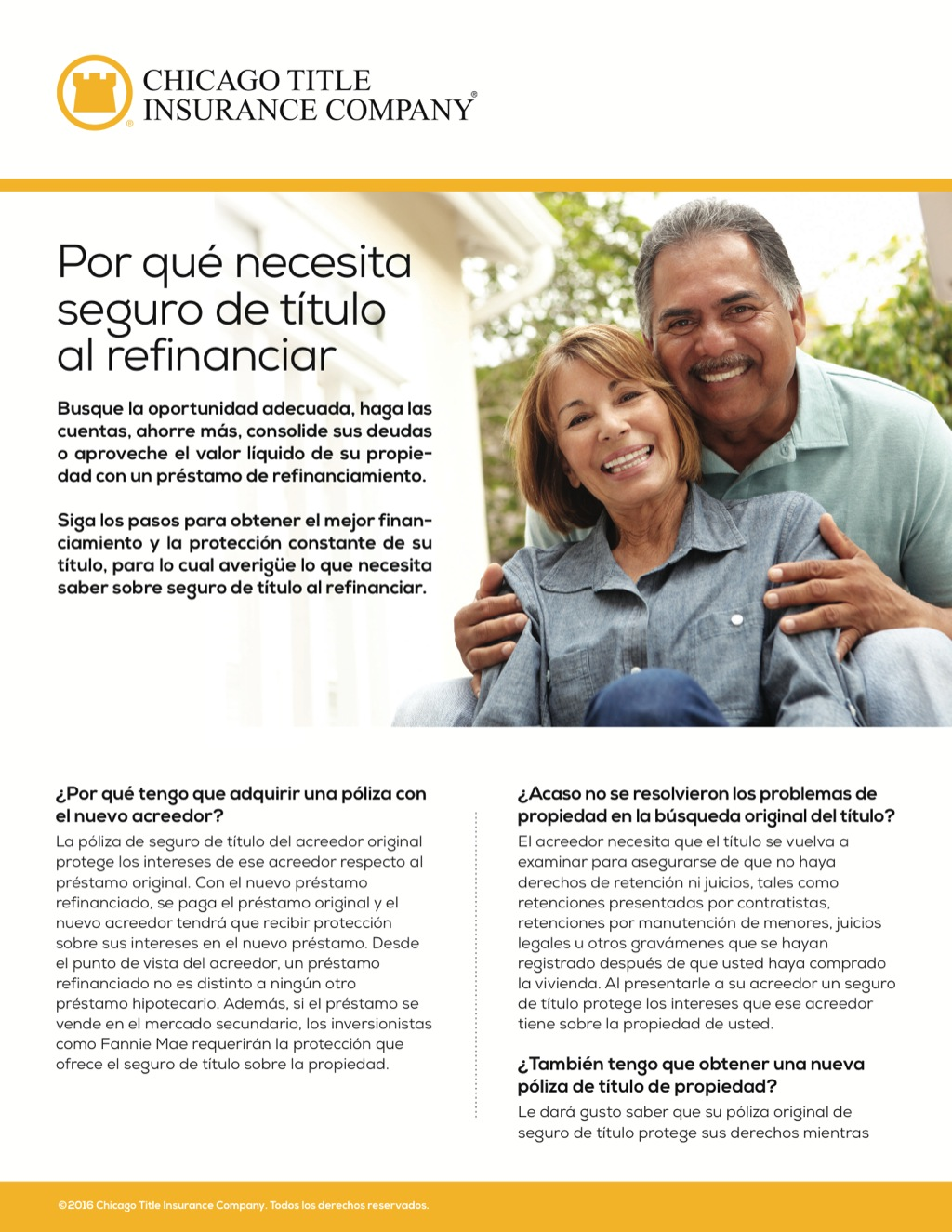 Corefact Why you need title insurance on a refi - Spanish - CTIC